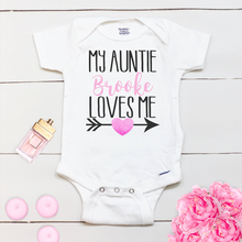 Custom Toddler Shirt Romper,My Auntie Loves Me,Aunt Onesies,Aunt Gift,Baby Girl Outfit,Baby Girl Onesies,Baby Shower Gift(China)