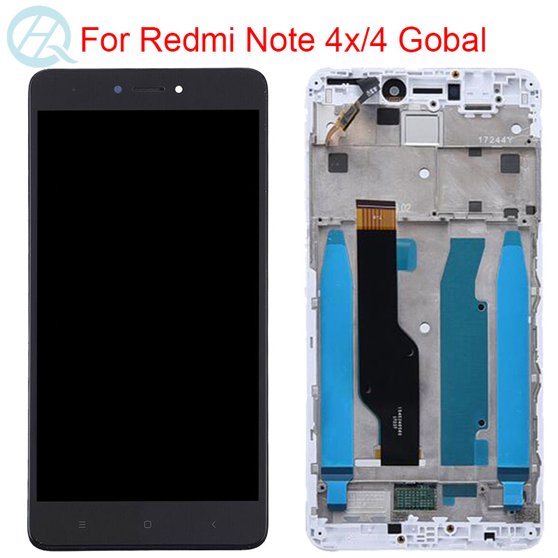 """Original LCD For Xiaomi Redmi Note 4 Version Global Display With Frame 10 Touch 5.5"""" Screen Redmi Note 4X Snapdragon 625 LCD"""
