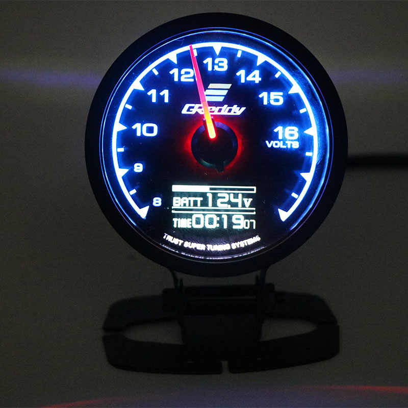 62mm 7 cores em 1 racing gauge greddi multi d/a display digital lcd turbo boost gauge carro 2.5 Polegada