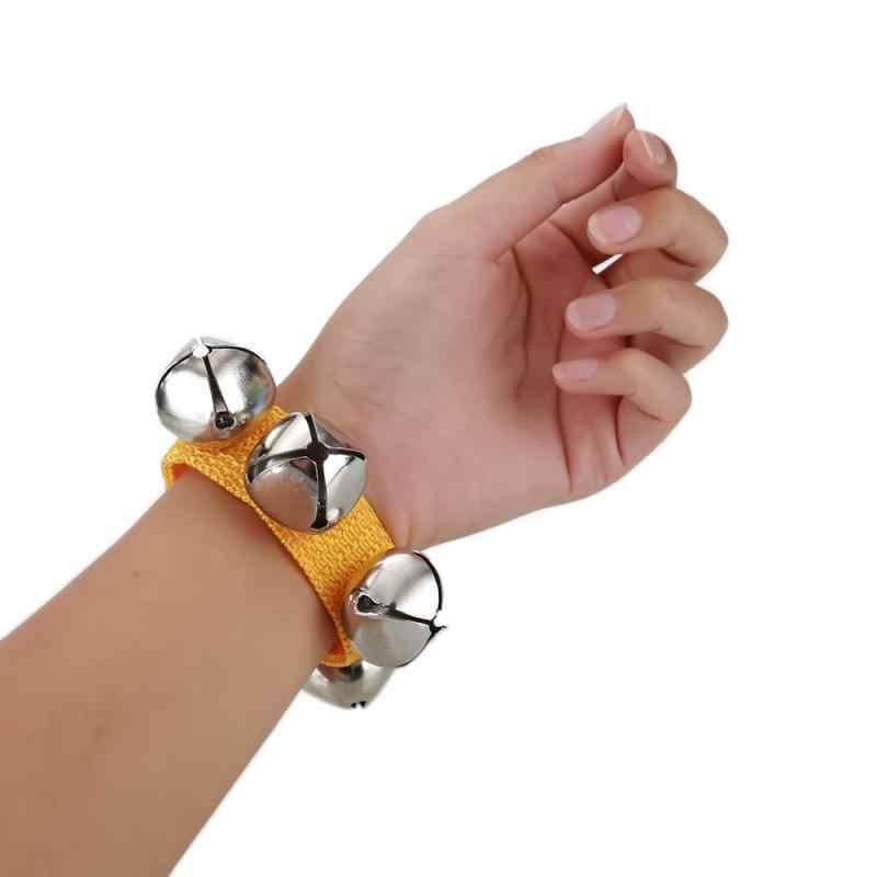 גבוהה באיכות מתכת ינגל פעמוני צמיד יד טמבורין ניילון אטב קלטת כלי הקשה מוסיקלי צעצוע לילדים מתנה