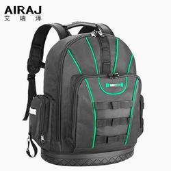 AIRAJ рюкзак для инструментов, водонепроницаемая сумка для инструментов, сумка для хранения с резиновым дном, рюкзак с несколькими карманами