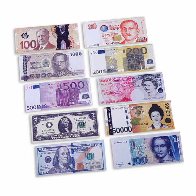 NEW High Qualidy Novelty Unisex Currency Pattern Pound Dollar Euro Purse Man's Wallets Pocket Slim Money Clips Carteira Feminina