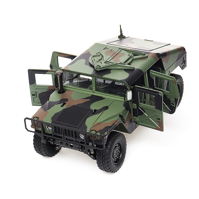 HG P408 RC Military Car 30km/h Light Sound Function 1/10 2.4Ghz 4WD 16CH Radio Control Car RC Car RC Vehicle Model Toys