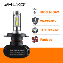 2 Шт. светодиодные лампы для авто 9005 HB3 9006 HB4 H8 H11 лампы h4 H7 Led H1 Авто Фар S1 N1 50 Вт 8000LM 12 В 6000 К Автомобильной Лампы Все В Одном CSP Lumileds Лампы лампочки для авто