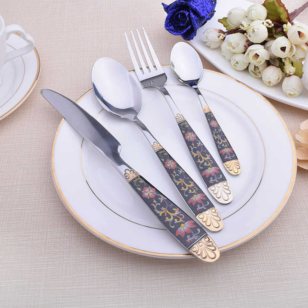Hot Sale Dinner Set Cutlery Knives Forks Spoons Wester Kitchen Dinnerware Stainless Steel Home Party Tableware Set Dinnerware Sets Aliexpress