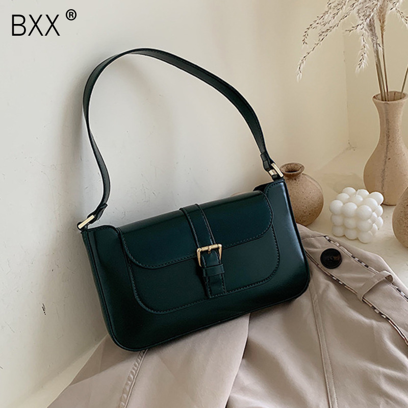 [BXX] Belt Designer PU Leather Crossbody Bags For Women 2020 Spring Shoulder Messenger Bag Lady Travel Handbags And Purse HK770