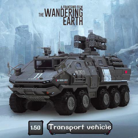 1 50 kaidiwei autorizado liga de terra perdida engenharia modelo veiculo guerreiro balde transporte caminhao