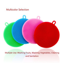 Kitchen multi-functional silica gel dishwasher, cleaning dishcloth, tremble