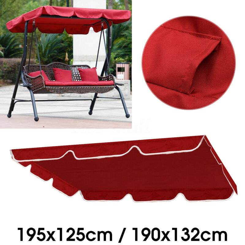 Red Outdoor Patio Porch Swing Hammock Bench Canopy Garden Top Cover Replaces 1x (Cover ONLY)