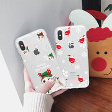 LL Cartoon Christmas Case For iPhone X XS Max7 8 6 6S Plus Santa Claus Soft Phone XR Max TPU Silicone Cover