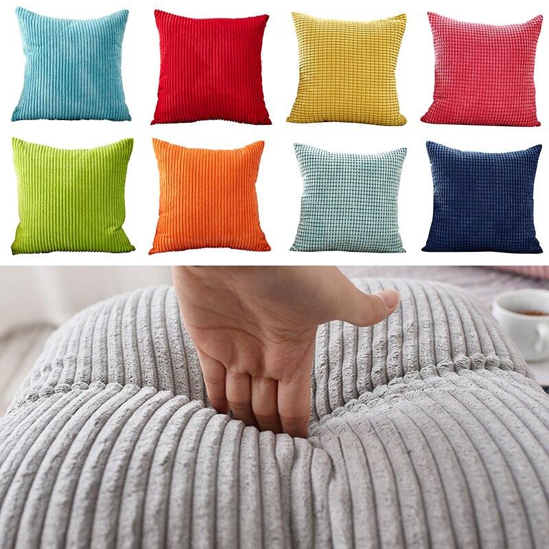 Cushion Cover Velvet Corduroy Sofa Decorative Pillows For Living Room Pillow Case 45X45cm Kussenhoes Soft Home Decor Nordic