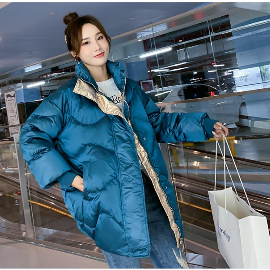 White Duck 2019 Free Shipping New Fashion Autumn Winter  Down Korean Edition Women Loose Thicker Cocoon Bread Broadcast Same