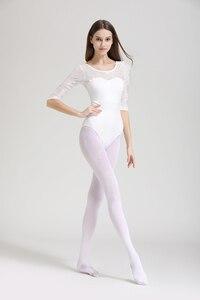 Image 3 - Women Ballet Leotard High Quality Medium Sleeve Lace Ballet Dancing Costume Adult Ballet Jumpsuit Gymnastics Dance Leotards