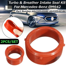 Peças turbo kit de anel de vedação de admissão para mercedes-benz om642 borracha durável