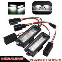 Lámpara de luz de 18 LED para placa de matrícula, sin Error, para VW GOLF 4 5 6 7 Polo 6R Scirocco Polo Lupo, Passat EOS Ibiza Leon2 3