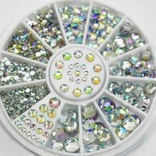 DIY Nail Art moda colores mixtos piedra para uñas AB Color strass cuentas irregulares manicura para uñas decoración de arte cristales Nr-1