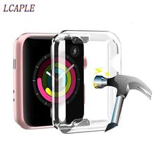 Case for apple watch 4 band 44mm/40mm Iwatch band 42mm/38mm Screen protector case silicone soft All-around Ultra-thin Cover 5 3 ashei watch cover for apple watch 3 case 42mm 38mm series 3 2 1 soft slim tpu all around ultra thin screen protector for iwatch