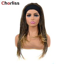 Braided Wigs Fake-Scalp Synthetic Black Women Hai Heat-Resistant Ombre 18inch Chorliss
