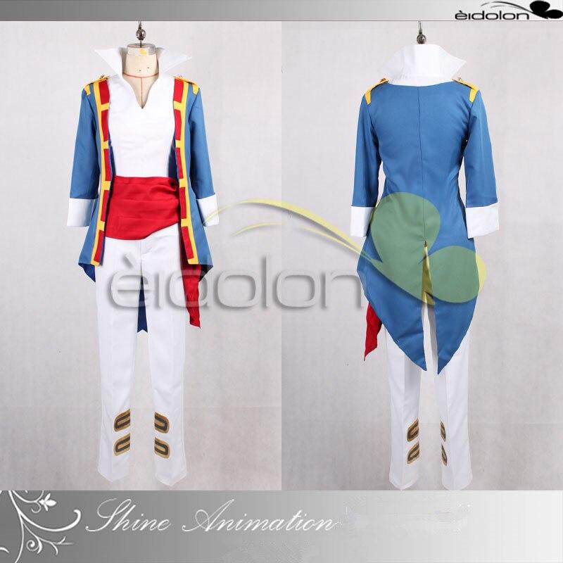 Hot Anime Tengen Toppa Gurren Lagann Simon Cosplay Costumes Simon Grow Up Uniform Full Set For Halloween Custom MaKe Any Size