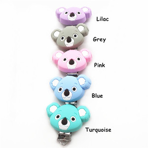 Image 3 - Chenkai 10PCS Silicone Koala Clips DIY Baby Teether Pacifier Dummy Chain Holder Soother Nursing Jewelry Toy Clips BPA Free
