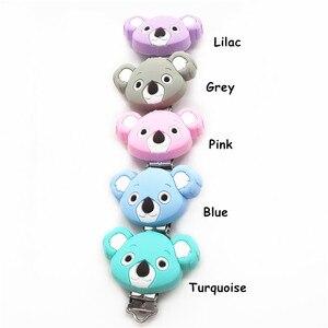 Image 3 - Chenkai Clips Koala en Silicone, 10 pièces, DIY pour bébé, anneau de dentition, sucette porte chaîne factice, attache sucette, jouet, sans BPA