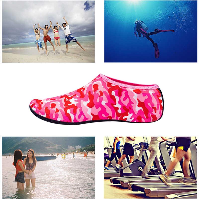 Plaj ayakkabısı yüzme su ayakkabısı erkekler kadınlar Aqua plaj ayakkabısı kaymaz yüzme sahil Sneaker çorap