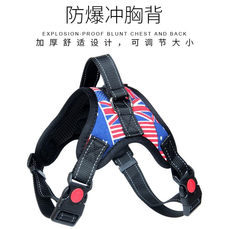 Dog Useful Product Oxford Cloth Bone Chest And Back Medium Large Dog Proof Punch Saddle Chest And Back Dog Hand Holding Rope