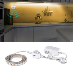 Human Body Motion Sensor LED Cabinet Light DC12V Fexible Strip 1-5M for Kitchen Wardrobe Bedroom Decor Night Auto Emergency Lamp