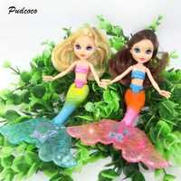 2019 Waterproof Swimming Mermaid Doll Kid Girls Toy New Bath Swimming pool Waterproof Mermaid Dolls Girls Toy 20cm
