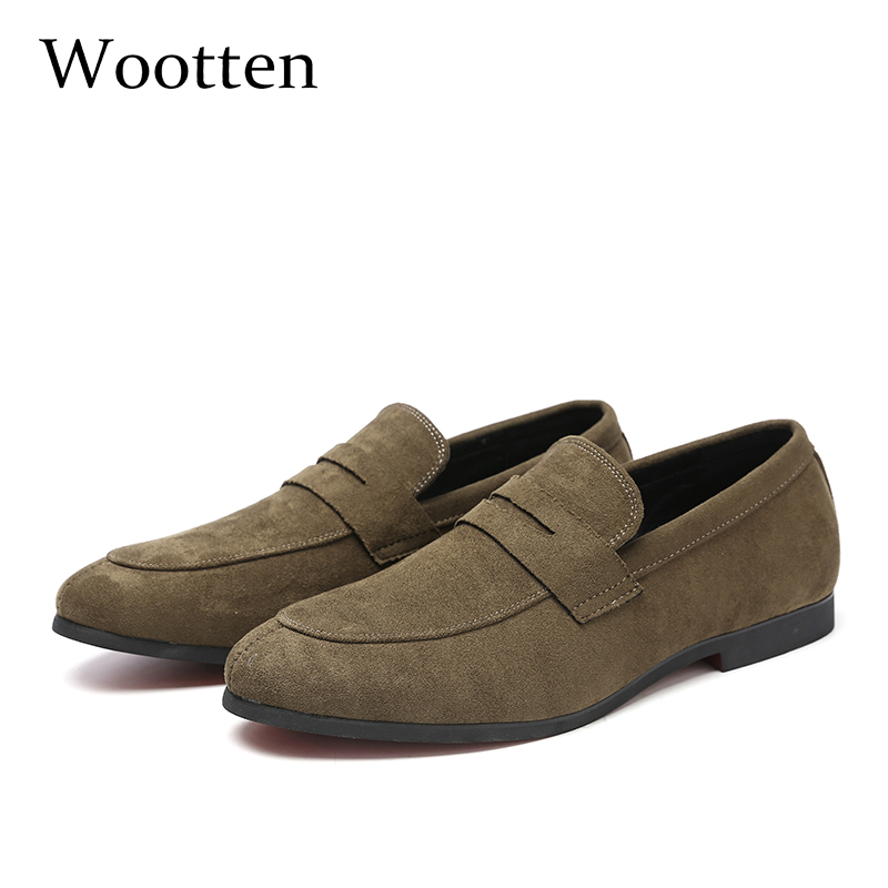 37-48 Men Casual Shoes Moccasins Breathable Elegant Fashion Comfortable Classic Luxury Plus Size Brand Loafers Men #205