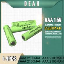 1-4 baterias alcalinas da bateria recarregável 1.5v 2100mah nova aaa dos pces para o rádio eletrônico do barbeador da luz do diodo emissor de luz dos brinquedos do controle remoto