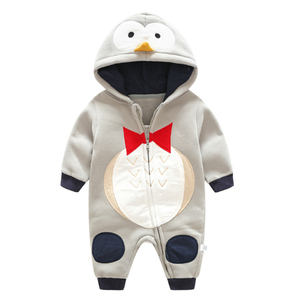 Image 5 - Autumn winter Cotton Newborn Baby Clothing Long Sleeve Baby boy Girl Clothing Jumpsuits toddler Clothes