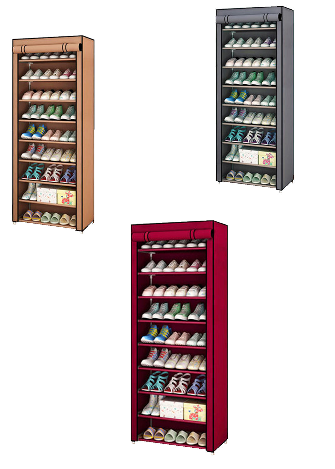 Non-woven Fabric Shoe Rack Hallway Storage Cabinet Organizer Holder Assemble Shoes Shelf DIY Home Furniture
