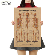 Poster-Bar Painting Wall-Sticker Kraft-Paper Ler-The-Skeleton-Of-The-Body-Structure Home-Decor