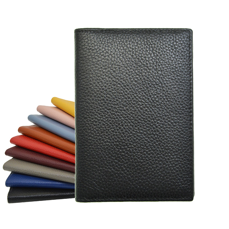100% Genuine Leather Passport Holder Soft Solid Candy Color Case Cover For The Passport Wallet Suit for Custom name/logo