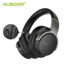 Ausdom Wireless Headphones Bluetooth-Headset Active Noise Travel-Work Deep-Bass-20h Cancelling