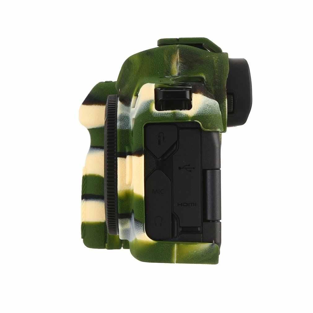 Dành cho Canon EOS R Ốp Lưng Ốp Lưng Bảo Vệ Chuyên Nghiệp Silicion Cao Su Camera Nhà Ở Da Ốp Lưng Có Thể Tháo Rời Bảo Vệ