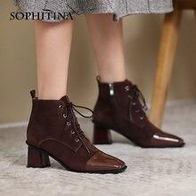 Женские Классические ботинки sophitina ботильоны на высоком