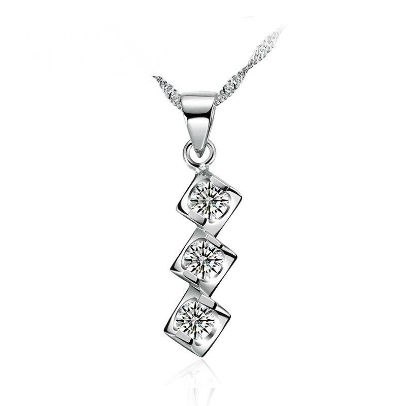 Collier pendentif en or massif 18K avec diamants naturels pour femmes-livraison DHL gratuite