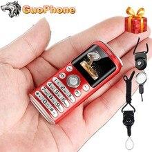 """スーパーミニK8プッシュボタン携帯電話デュアルsimのbluetoothカメラダイヤラ1.0 """"手電話MP3最小中国格安携帯電話"""