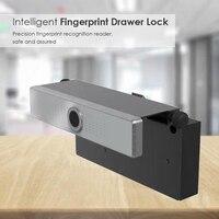 AMS Smart Elektrische Mini Lock Fingerprint für Schublade Schrank Schrank Runde Smart Elektrische Anti Diebstahl Sicher-in Elektroschloss aus Sicherheit und Schutz bei
