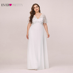 Image 1 - בתוספת גודל נצנצים ערב שמלות ארוך פעם די אונליין V צוואר קצר שרוול אלגנטי המפלגה שמלות העבאיה Gece 2020