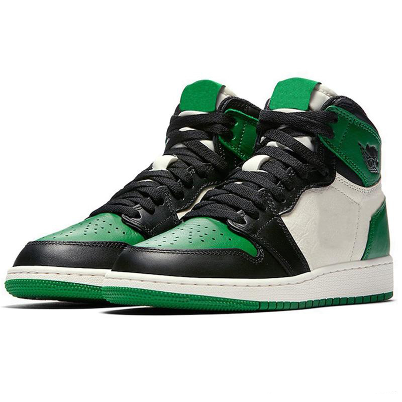 Купить с кэшбэком 2020 Top Quality Basketball Shoes Retro 1 I High OG Game Royal Banned Shadow Bred Toe Clay Green Trainers 1S Sneakers EUR 36-47