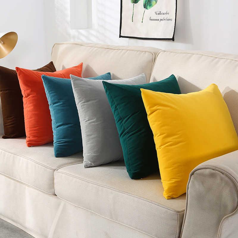Beludru Super Lembut Bantal Cover Permen Warna Dekoratif Melempar Bantal Case Mewah Sofa Kursi Bantal Cover 30x5 0/40x4 0/45x4 5/50x50cm
