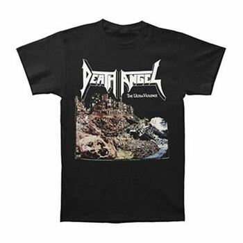 Camiseta negra Ultra-violencia de los hombres del Ángel de la muerte