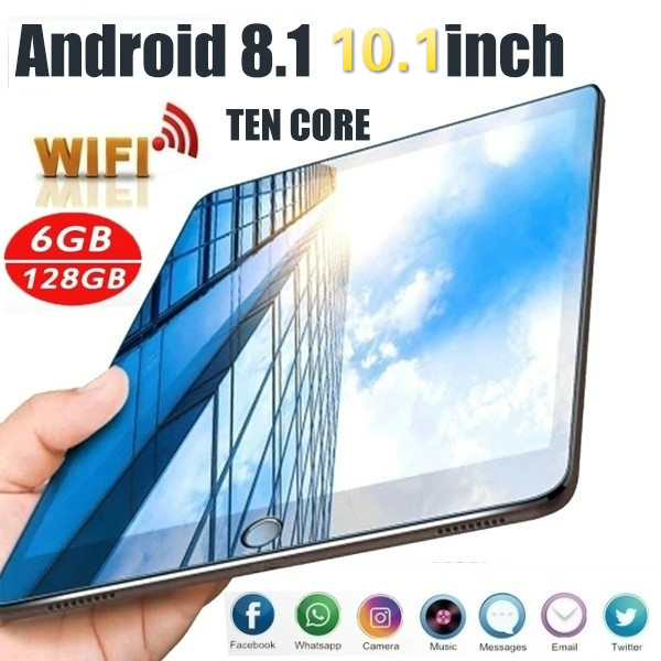 2020 Google Tablet 1280*800 IPS Screen 10.1 Inch Ten Core 6G+128G Android 8.1 WiFi Tablet Dual SIM Card  4G WiFi Call Tablet