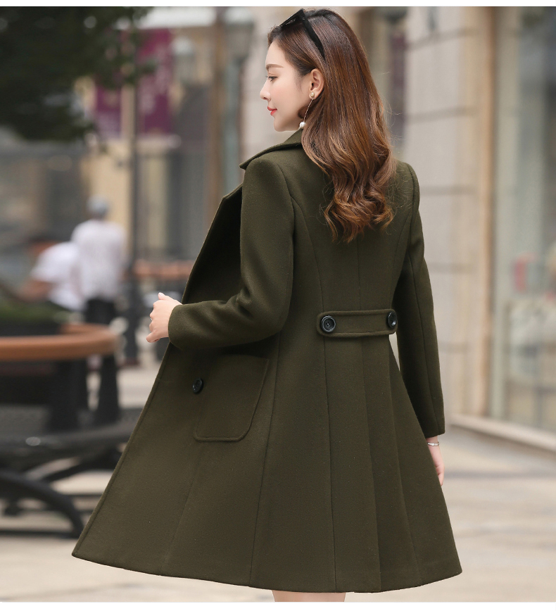 Woolen Women Jacket Coat Long Slim Blend Outerwear 2019 New Autumn Winter Wear Overcoat Female Ladies Wool Coats Jacket Clothes 9