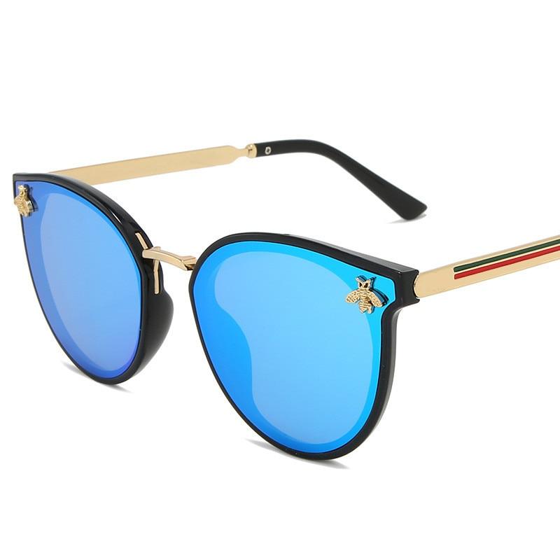 2020 luxury bee Fashion for women Sunglasses Men Square Brand Design Sun Glasses Oculos Retro male