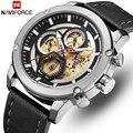 NAVIFORCE мужские s часы лучший бренд класса люкс кварцевые часы мужские кожаные водонепроницаемые наручные часы с календарем Мужские часы Relogio ...
