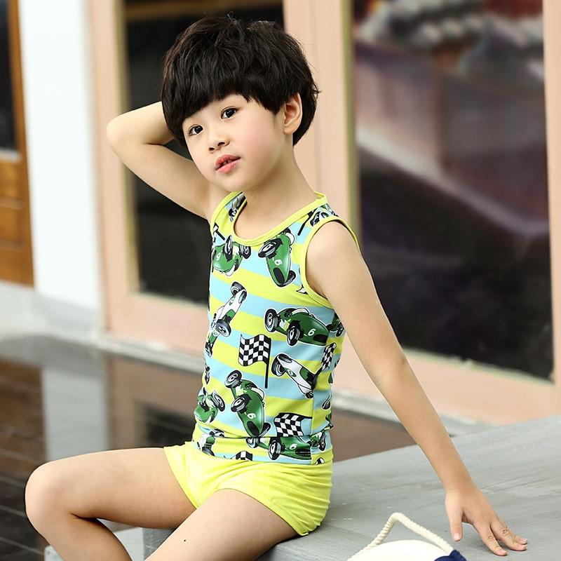 KID'S Swimwear BOY'S Swimming Trunks Set Boy Baby Big Boy Split Type Cartoon Swimwear Tour Swimwear By Fashion